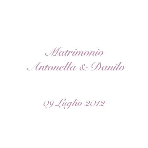 copertina album matrimonio Antonella