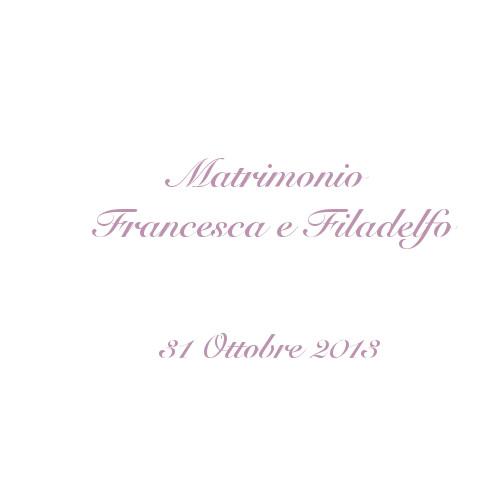 copertina album matrimonio Francesca