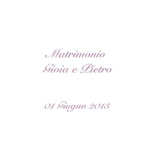 copertina album matrimonio Gioia