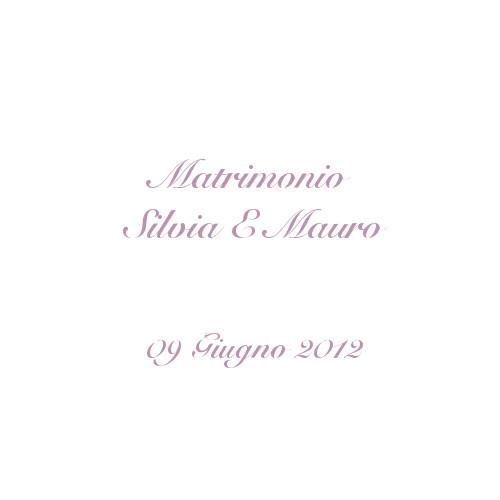 copertina album matrimonio Silvia