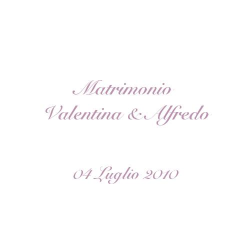 copertina album matrimonio Valentina